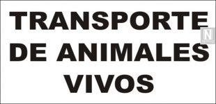 Placa de transporte de animales vivos