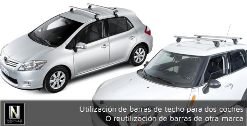 ¿Puedo utilizar unas barras de techo para dos coches diferentes o reutilizar unas de otra marca?
